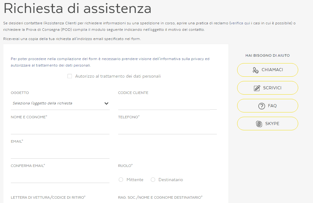 modulo assistenza 1