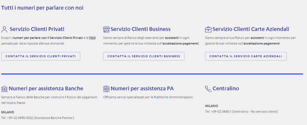 screen nexi assistenza clienti