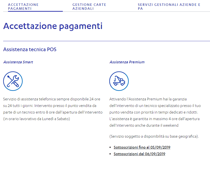 screen nexi business top servzio clienti
