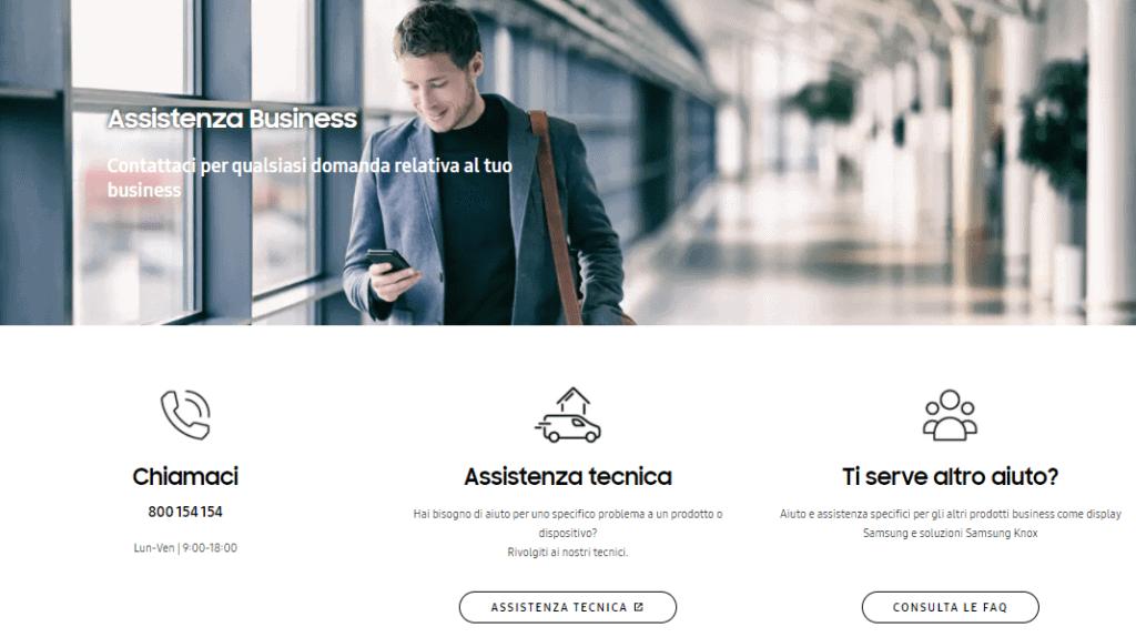 samsung servizio assistenza clienti business