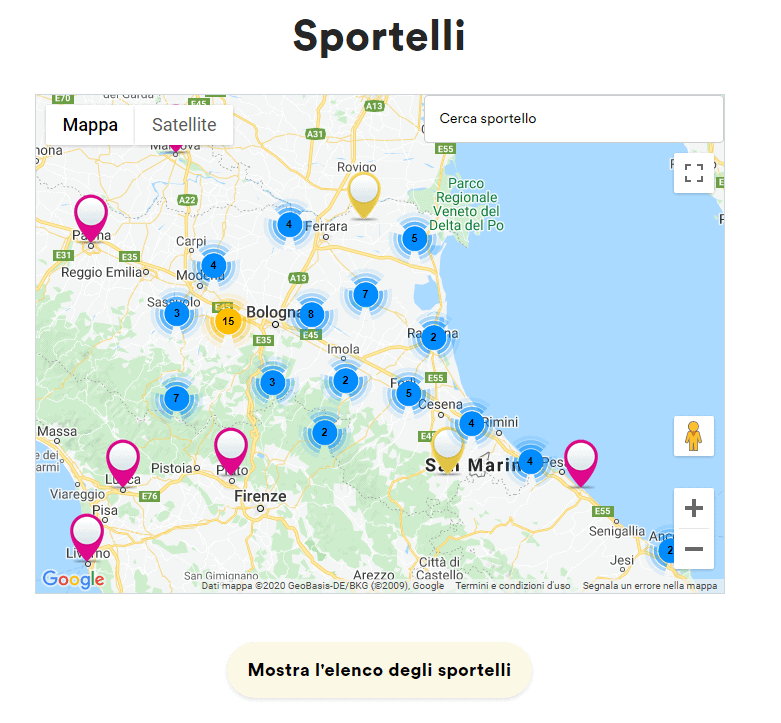 mappa sportelli hera