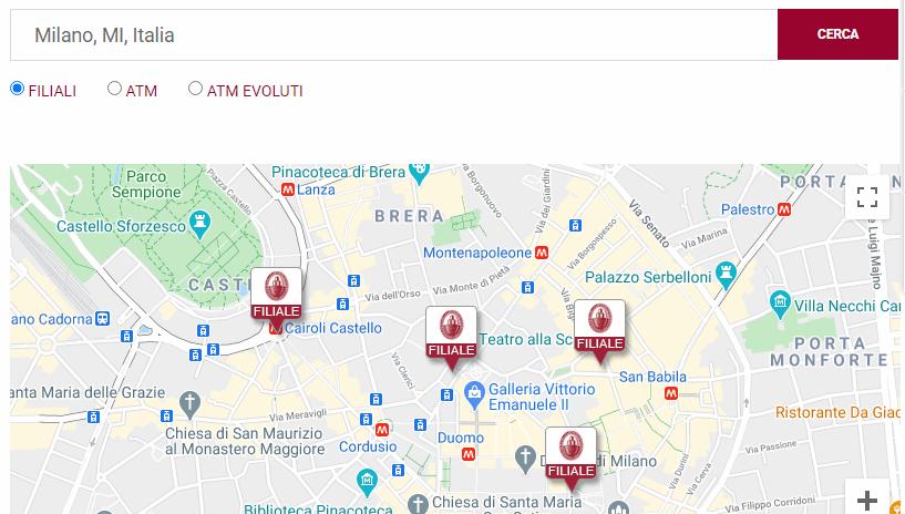 mps servizio assistenza mappa filiali