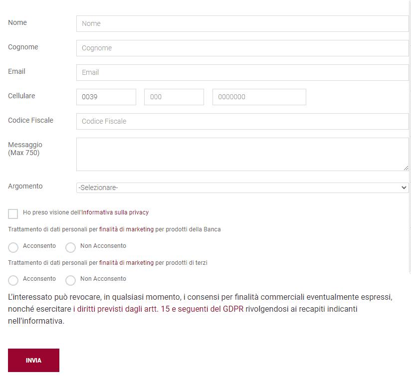 mps modulo richiesta informazioni come privato