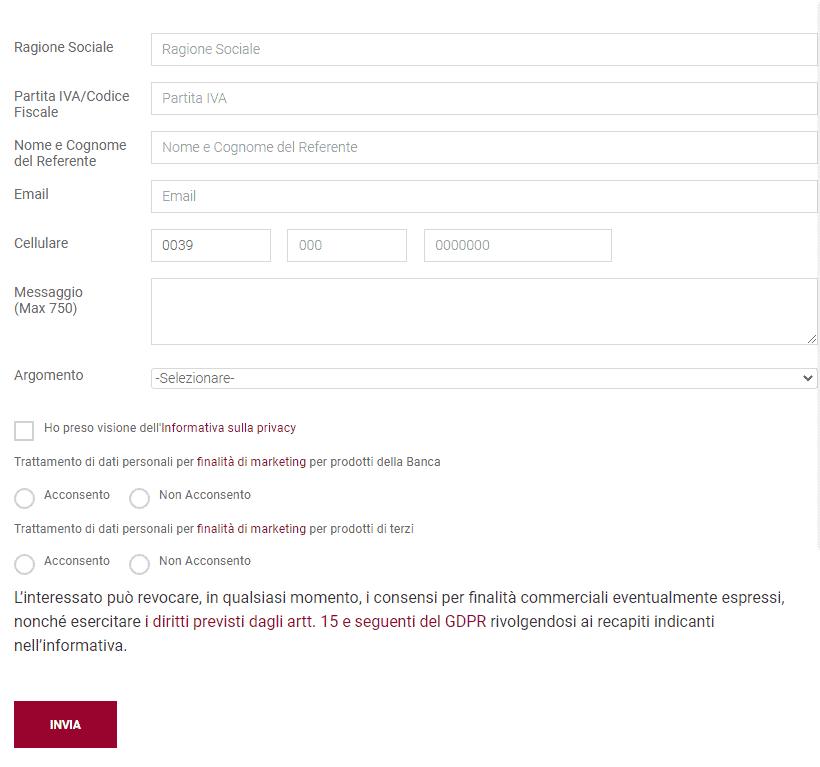 mps modulo richiesta informazioni come azienda